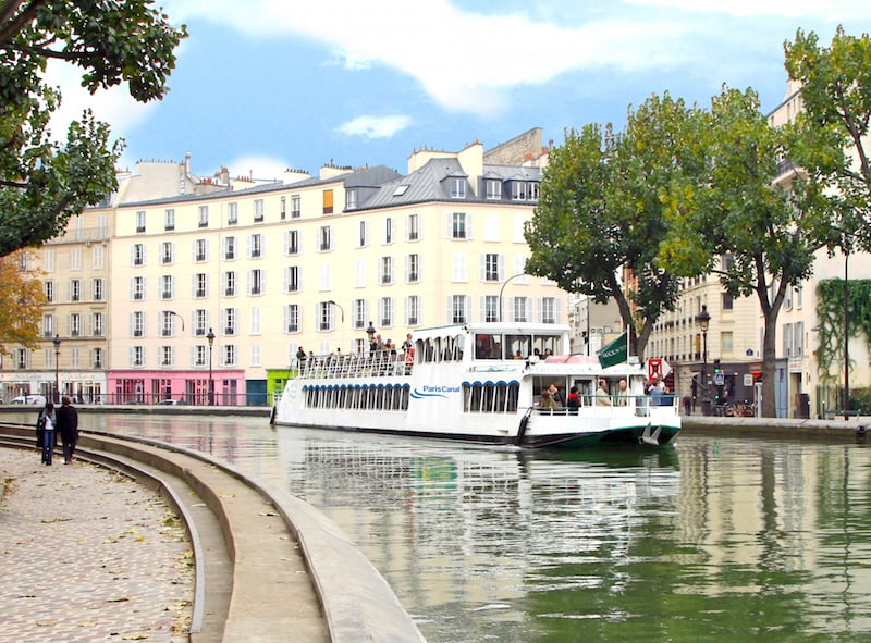 Le Canotier Courbe canal St Martin