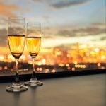 Champagne sur l'eau sur nos péniches