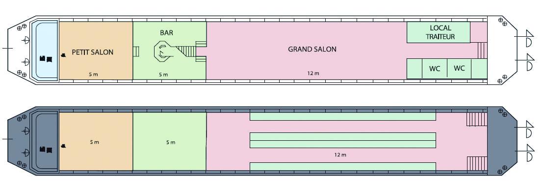 Plan du Bateau Le Canotier